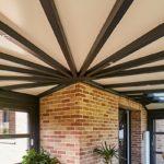 Toiture verandas chevrons toiture en pente
