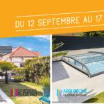 Les jours complètement barrés du 12 septembre au 17 octobre 2020 sur les produits de la marque VÉRANDA GUSTAVE RIDEAU et ABRI PISCINE GUSTAVE RIDEAU : abris de piscine et terrasse, vérandas, pergolas et extensions..