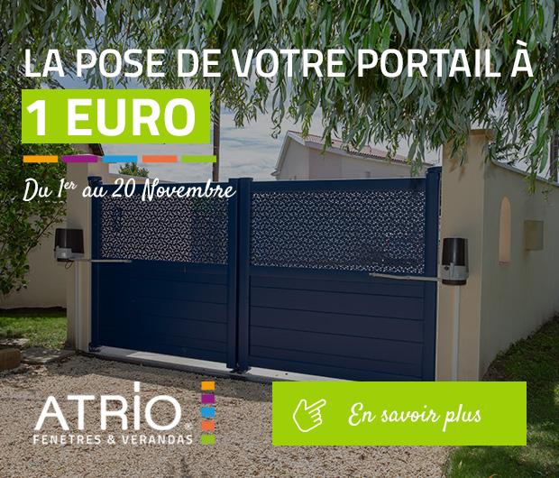 La pose de votre portail à 1 euro