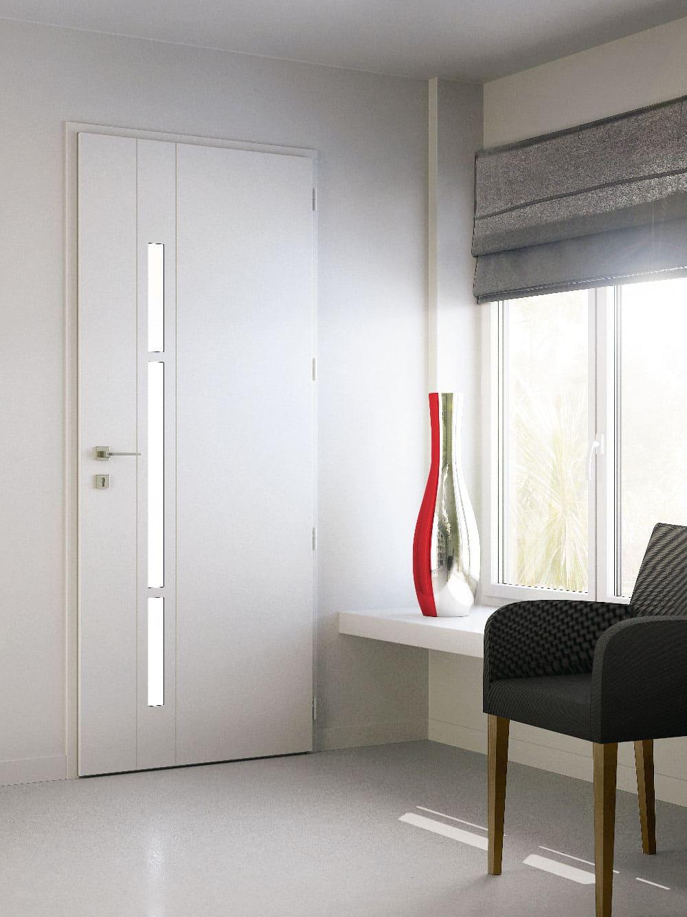 Porte d'entrée aluminium K-LINE chez ATRIO